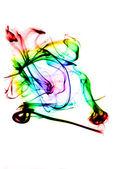 Magic colored Smoke curves — Stock Photo