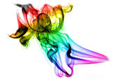 Gradient colored fume on the white — Stock Photo
