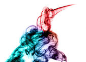 Colored bright fume abstract — Stock Photo