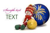 圣诞卡片-装饰玩具 — 图库照片