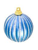 Christmas - blue decoration ball — Stock Photo