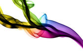 Abstract colorful fume shapes on white — Stock Photo