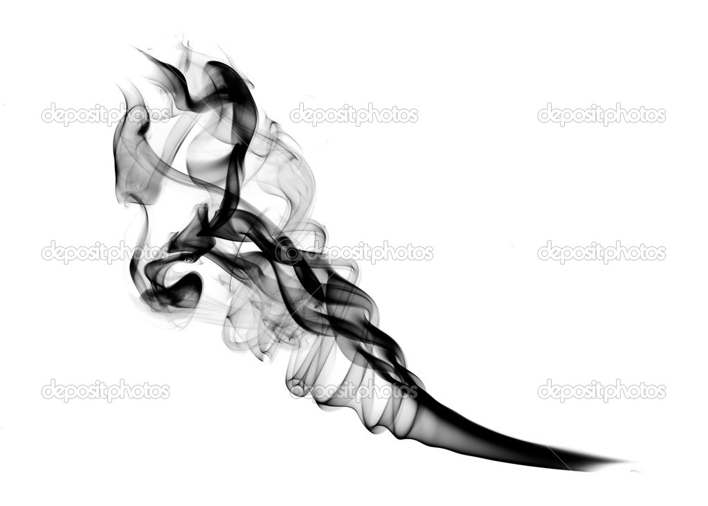Abstract Smoke shape over white background   Stock Photo #1367369