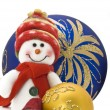 Stock Photo: Cuddly Christmas decoration toy
