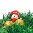 Christmas toy with colorful decoration — Stock Photo