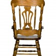 Antique wooden chair rear view — Stock Photo