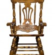 Antique wooden chair front view — Stock Photo #1374860