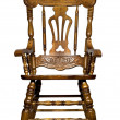 Antique wooden chair front view — Stock Photo
