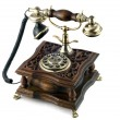 Antique telephone — Stock fotografie