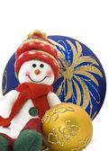 Cuddly Christmas decoration toy — Stock Photo