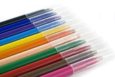 Colorful felt-tip pens (markers) — Stock Photo