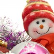 Stock Photo: Cute Xmas snowmand decoration