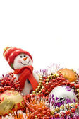 Christmas comes. Cute snowman — Stock Photo