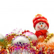 Christmas - Funny white snowman — Stock Photo #1408751