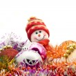 Christmas snowman and decoration — Stock Photo #1461873