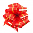 Red stripy holiday ribbon — Stock Photo #1525585