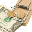 Catch it - money in the mousetrap — Stock Photo #1525645