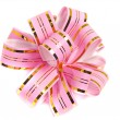 Pink stripy holiday ribbon - Stock Photo