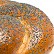 Close-up of bagel with poppy seeds — Stock Photo