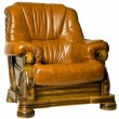Cosy Antique leather armchair - Stock Photo