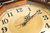 Close-up of Antique clock — Stock Photo