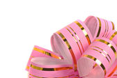 Pink holiday ribbon for presents — Stock Photo