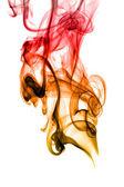 Abstrakt rök kurvor på vit — Stockfoto