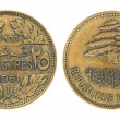 25 piastres or piasters - money of Lebanon — Стоковая фотография