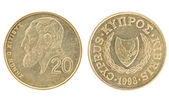 Money of Cyprus - 20 cents — Stock Photo