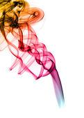 абстрактные формы яркие красочные дыма над белой — Стоковое фото