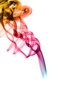 Bright colorful fume abstract shapes over white — Stock Photo