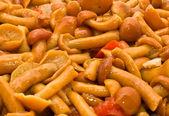 Tasty Food background - champignons — Stock Photo