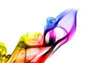 Heldere kleurrijke fume abstracte vormen over Wit — Stockfoto