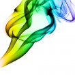 Gradient colored smoke abstract pattern — Stock Photo