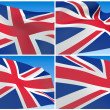 Flying Great Britain Flag - Stock Photo