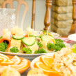 Tasty canape. Banquet in restaurant — Stock Photo #2470017