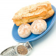 Lunch time - Watch and delicious pastry — Stock Photo #2564532