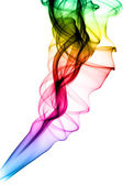 Bright colored puff of smoke abstract shapes — Foto Stock