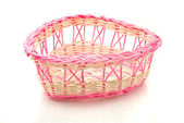 Valentines day - Pink woven basket — Stock Photo