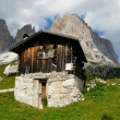 Hut in the Dolomites — Stock Photo