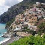 Positano at the Amalfi coast — Stock Photo