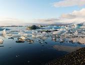 Glaciärlagunen, glaciär lagunen — Stockfoto