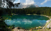 Carezza Lake (Karersee), Italy — Stock Photo