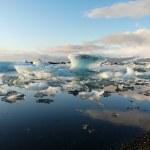 jokulsarlon, buzul göl — Stok fotoğraf
