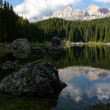 Stock Photo: Reflection of ItaliDolomites