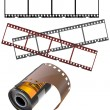 Negative frames and film canister - Stock Vector