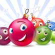 Royalty-Free Stock Vector Image: New Year\'s balls Cartoon characters