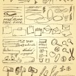 Doodles set for web site design - Stock vektor
