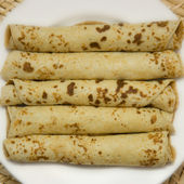 The braided pancakes — Stock Photo