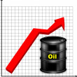 The schedule of a rise in prices for oil - Lizenzfreies Foto
